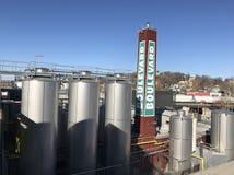 Pila de humo de la cervecería del bulevar Imagen de archivo libre de regalías