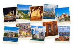 Pila de imágenes del recorrido de Estambul Turquía Fotografía de archivo