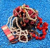 Pila de joyas imágenes de archivo libres de regalías