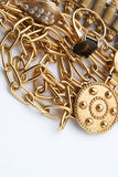 Pila de joyería del oro Imagen de archivo libre de regalías