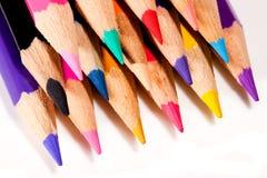 Pila de lápices coloreados Fotografía de archivo
