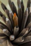 Pila de lápices de madera del color Imagen de archivo libre de regalías