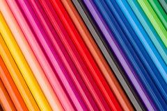 Pila de lápices multicolores fotos de archivo