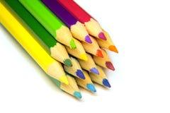 Pila de lápiz coloreado Imagen de archivo libre de regalías