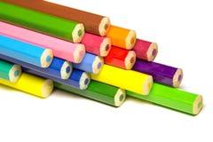 Pila de lápiz coloreado Foto de archivo libre de regalías