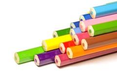 Pila de lápiz coloreado Foto de archivo