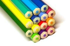 Pila de lápiz coloreado Fotos de archivo