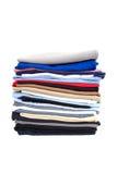 Pila de la camiseta Imágenes de archivo libres de regalías