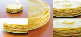 Pila de la crepe con mantequilla fotografía de archivo libre de regalías