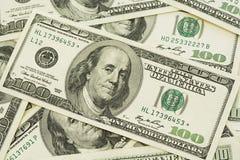 Pila de la cuenta de dólar Imagen de archivo libre de regalías