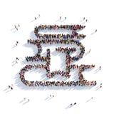 Pila de la gente 3d de los libros Foto de archivo
