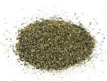 Pila de la harina de algas desde arriba Imagenes de archivo