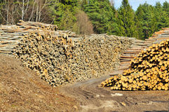 Pila de la madera de construcción Imágenes de archivo libres de regalías