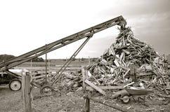 Pila de la madera de construcción del pedazo Imagen de archivo