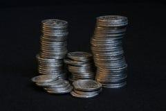 Pila de la moneda Imágenes de archivo libres de regalías