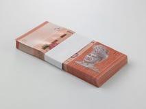 Pila de la nota de diez dólares Fotografía de archivo