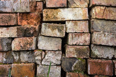 Pila de la piedra del ladrillo Imagenes de archivo