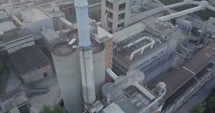 Pila de la planta industrial almacen de metraje de vídeo