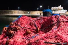 Pila de la red de pesca fotos de archivo