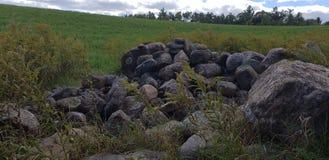 Pila de la roca imagen de archivo