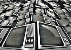 Pila de la televisión del vintage. Fotografía de archivo libre de regalías