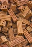 Pila de ladrillo rojo Imagen de archivo libre de regalías