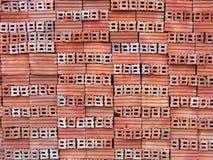 pila de ladrillos anaranjados Imagenes de archivo