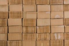 Pila de ladrillos anaranjados Fotografía de archivo libre de regalías