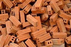 Pila de ladrillos rojos Imagen de archivo libre de regalías