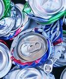 Pila de las latas machacadas 1 Fotos de archivo libres de regalías