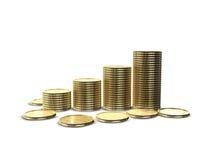 Pila de las monedas foto de archivo