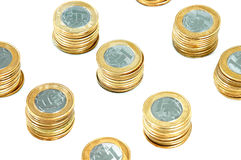 Pila de las monedas Imagen de archivo