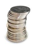 Pila de las monedas de Unión Soviética. Fotos de archivo