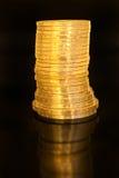 Pila de las monedas de Unión Soviética. Foto de archivo libre de regalías