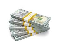 Pila de las nuevas cuentas 2013 de la edición de los dólares de EE. UU. Foto de archivo libre de regalías
