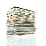 Pila de las postales. Imagen de archivo libre de regalías