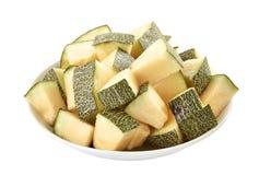Pila de las rebanadas del melón fotos de archivo