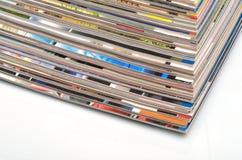 Pila de las revistas Imagenes de archivo