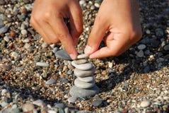 Pila de las rocas Imagen de archivo libre de regalías