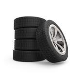 Pila de las ruedas del automóvil Imagen de archivo
