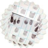 Pila de las tarjetas de la huella dactilar Imagen de archivo
