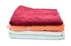 Pila de las toallas Imágenes de archivo libres de regalías
