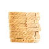 Pila de las tostadas cortadas del pan Foto de archivo libre de regalías