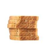 Pila de las tostadas cortadas del pan Foto de archivo