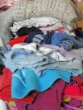 Pila de lavado y de planchar nacionales Fotografía de archivo