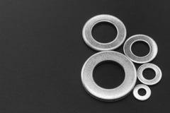 Pila de lavadoras del acero inoxidable Imagenes de archivo