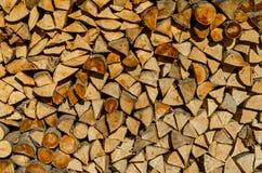 Pila de leña Foto de archivo
