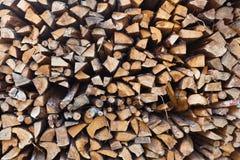 Pila de leña Foto de archivo libre de regalías