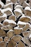 Pila de leña cortada Foto de archivo libre de regalías