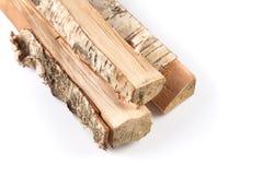 Pila de leña cortada de los registros Imágenes de archivo libres de regalías